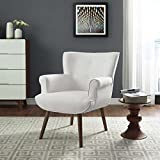 Modway EEI-2941-WHI Cloud Mid-Century Modern Upholstered Fabric Accent Arm Chair White