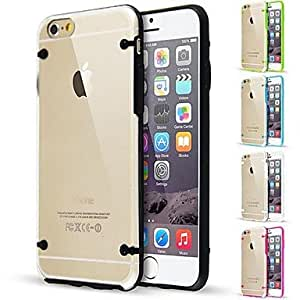 Glow In The Dark TPU Bumper with Clear Back Case for iPhone 6 Plus(Assorted Color) , Golden