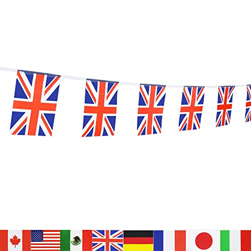 British Union Jack Flag,LoveVC 100 Feet United Kingdom UK Great Britain Flag National Country World Flags Banners,Party Decorations For Grand Opening,Bar,Sports Events,International - Sports In Shops Uk