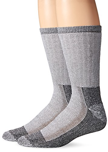 Fruit of the Loom Mens Work Gear Crew Socks with Arch Support | Breathable & Lightweight | 2 Pack Socks