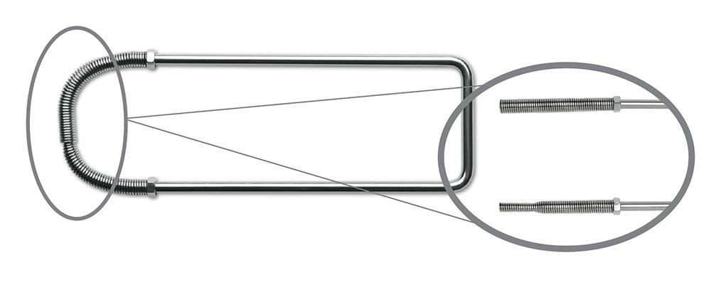 Key Surgical IS-23010 Instrument Stringer, Spring Lock, Stainless Steel, 10'' x 3''