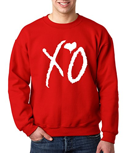 New Way 763 - Crewneck XO The Weeknd Heart Weekend Whiteout Unisex Pullover Sweatshirt Medium ()