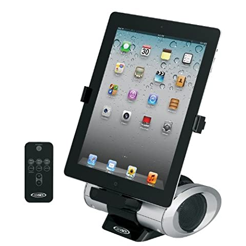 Jensen JiPS-270i Universal iPad/iPod/iPhone Docking Speaker Station with Custom App, Aux Line-In and - Iphone Dock Stereo