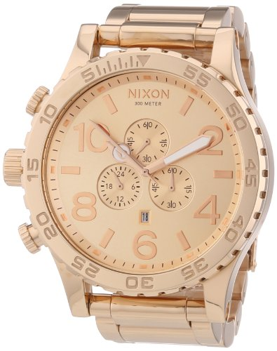 Nixon A083-897 The 51-30 Chrono All Rose Gold Watch - Rose Gold Nixon Watch Mens