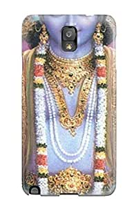 Rugged Skin Case Cover For Galaxy Note 3- Eco-friendly Packaging(lord Krishna Shri Gods )