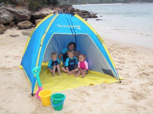 Shelta Australia Shelta U V Protector Beach Tent Pop - Up - Tienda de campaña (1,95 x 1,95 m), Color Azul