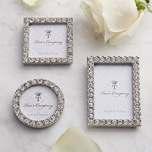 Two's Company 5439 Diamonds Set of 3 Jeweled Mini Frames Assorted
