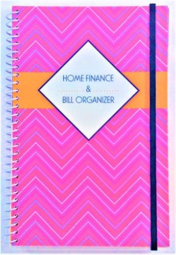 Bill Organizer (Home Finance & Bill Organizer with Pockets (Pink Zig-Zag))