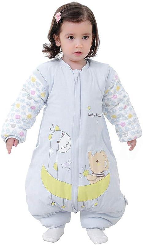 Kylewo Saco de Dormir de Invierno para bebé 3.5 TOG Saco de Dormir de Invierno de Manga Larga con Forro cálido de Invierno con pies, Pijama de Mono ...