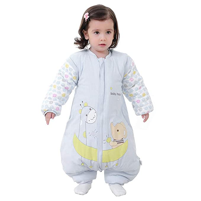 608519e14 Mallalah Saco de Dormir con Pies para Bebé Durmiendo Cómodo Desmontable  Manga Historieta Diseño Algodón Recién Nacido 3-48 Meses: Amazon.es: Ropa y  ...