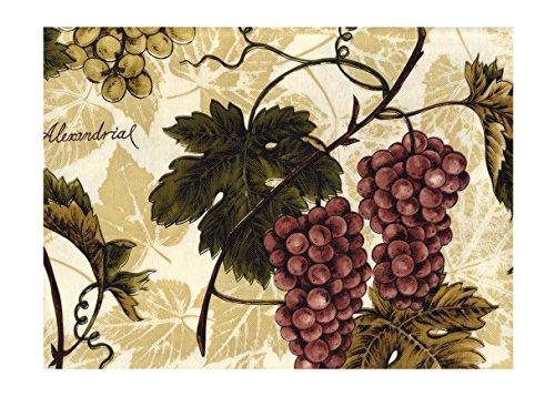 (American Plastics Vinyl Tablecloth Grapevine Red Green Grapes Vineyard Design Flannel Back (52 x 90)