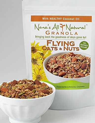 Nana's All Natural - Flying Oats and Nuts - 12 Oz Granola with Almonds, Walnuts, Sunflower and Pumpkin Seeds by Nana's All Natural