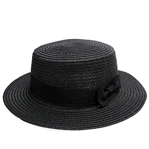 Ayliss Women Summer Short Brim Straw Fedora Hat