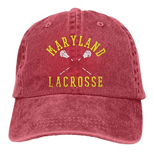 cbde429b714a7 Unisex Baseball Cap Hat Maryland Crab Lacrosse Cotton Denim Trucker Hat for  Men Red