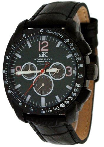 Adee Kaye Men's Black IP Sports Multi-Function Automatic Watch Model AK-4072-MBIPB1R