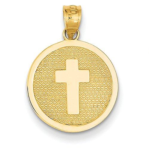 Or 14ct réversible Croix et 1st Holy Communion Charme