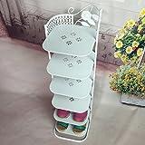 European style iron shoe rack simple iron shoe rack multilayer metal shoe rack storage cabinet-A 27x29x92cm(11x11x36inch)