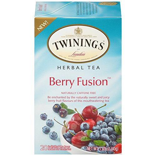 Twinings of London Berry Fusion Herbal Tea, 20 Count (Pack of 6)