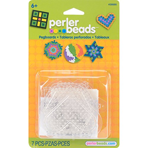 (Perler Beads Basic Shapes Clear Pegboard Set, 7)
