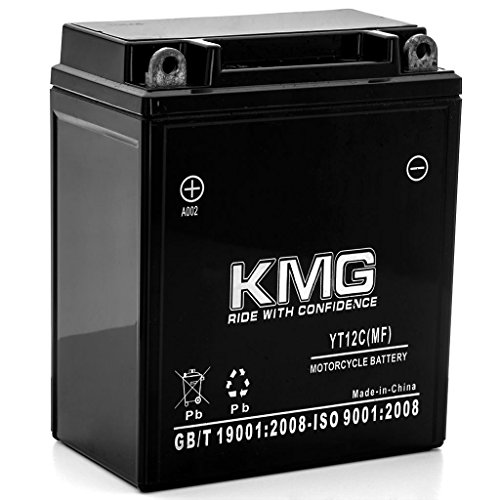 KMG 1968-1973 Honda CL350 Scrambler YT12C Sealed Maintenance Free Battery 12V Powersport Motorcycle Scooter ATV