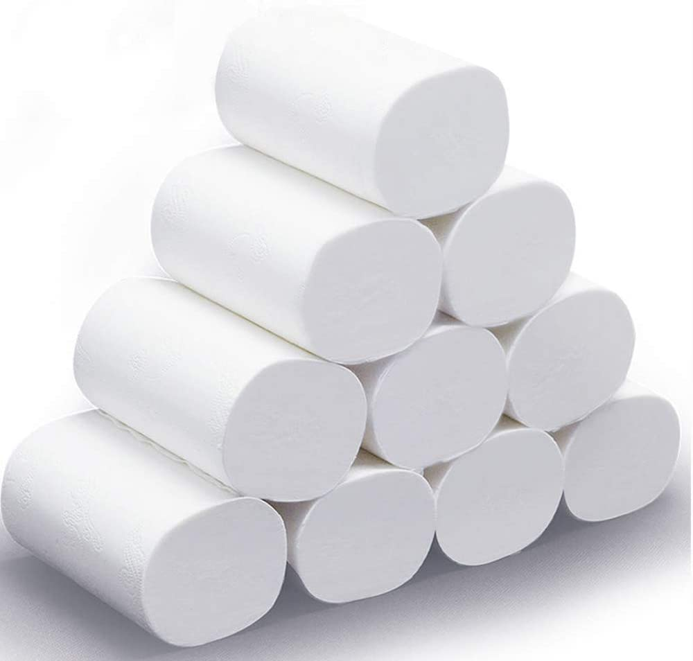 Toilet Paper Soft Strong and Highly Absorbent 6 Rolls 3 Layers White Soft Toilet Paper,Home Kitchen Toilet Tissue