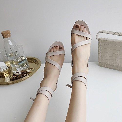 Sandalias Dedos Expuestos Verano DIDIDD con Correas Simples de 36 de Los Segundo con Ballet xS6SCq40