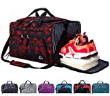 Venture Pal Packable Sports Gym Bag with Wet Pocket & Shoes Compartment Travel Duffel Bag for Men and Women-Red Flame