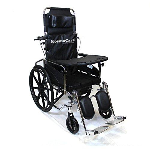 KosmoCare Recliner Cum Commode (Premium U-Cut Seat) Crest Series