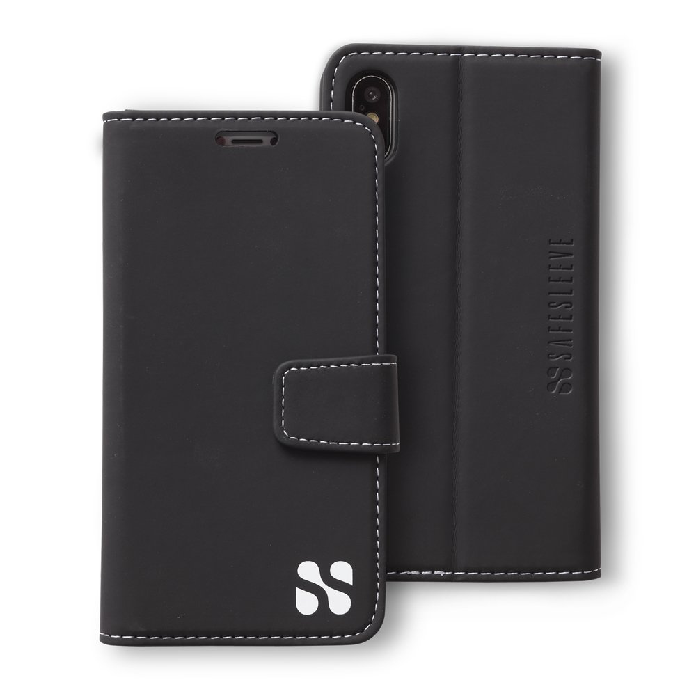 newest 5299f 3385f Anti Radiation RFID iPhone Case: iPhone X and Xs ELF & RF Blocking Identity  Theft Protection Wallet (Black)