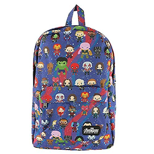 Loungefly Avengers Chibi Print Nylon Backpack (One Size, -