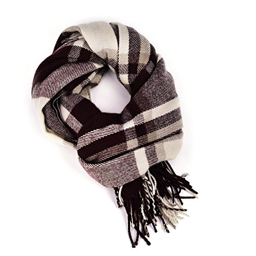Women Plaid Blanket Cashmere Scarf Long Large Warm Tartan Scarves Wrap Shawl