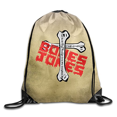 Bones Sexual Chocolate Believe Christ Who Strengthens He Drawstring Backpack GYM Bag