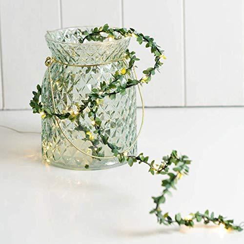 Green Leaf String Lights, Vine String Light 16FT Set of 50 LED for Indoor Outdoor Christmas Decorative Patio Wedding Garden