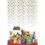 Super Mario Party birthday supplies brothers 2 pack tablecovers