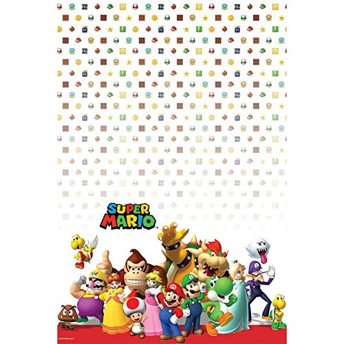 Super Mario Party birthday supplies brothers 2 pack tablecovers by BirthdayExpress