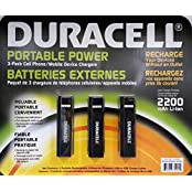 Duracell Portable Power 3-pack Cell phone/Mobile device charger