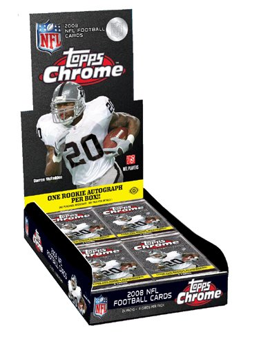 (2008 Topps Chrome Football Card - Factory Sealed HOBBY Box - 1 Autograph (Possible Matt Ryan or Joe Flacco Rookie Cards) 12 Rookie Cards Per Box on Average!)