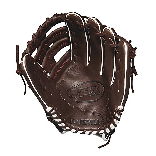 Louisville Slugger 2018 Tpx Outfield Baseball Glove - Right Hand Throw Dark Brown/Red, ()