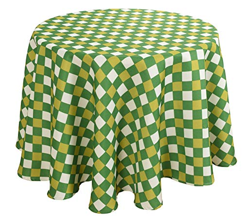 (Biscaynebay Printed Checkered Table Cloth, Oil and Water Resistant Spill Proof Fabric Tablecloths for Dining, Kitchen, Wedding and Party (70