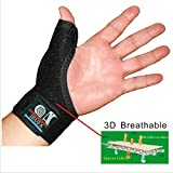 IRUFA, TB-OS-32, 3D Breathable Spacer Fabric Reversible CMC Joint Thumb Stabilizer, Splint Spica, Abducted Thumb for BlackBerry Thumb, Trigger Finger, Mommy Thumb, One PCS