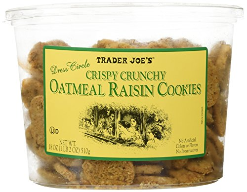 Trader Joe's Crispy Crunchy Oatmeal Raisin Cookies