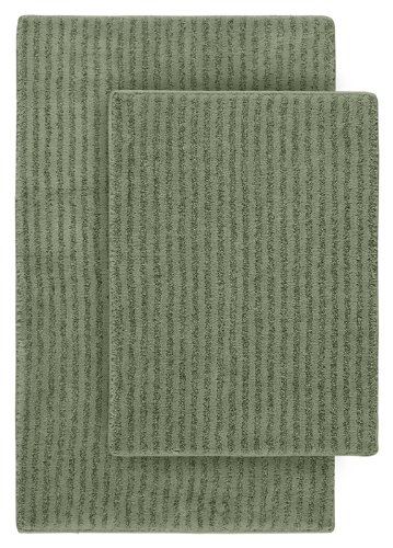Deep Green Area Rug (Garland Rug 2-Piece Sheridan Nylon Washable Bathroom Rug Set, Deep Fern)