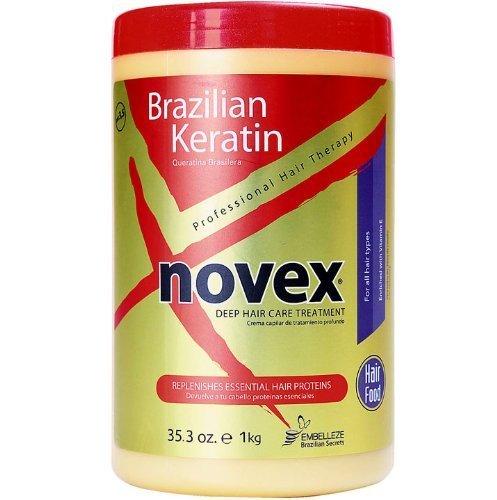 Crème dépilatoire Embelleze Novex brésilien kératine Traitement Soins - 35,3 Oz | Embelleze Novex Creme de Tratamento Capilar com QUERATINA Brasileira - 1 kg