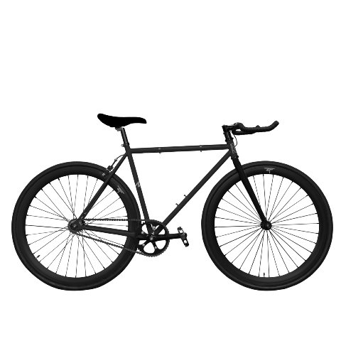 Zycle Fix ZF-BKHL-55 BLACK HOLE Fixed Gear Bike, 55cm/One Si