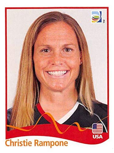 Official 2011 Fifa World Cup - 2011 Panini FIFA Women's World Cup Stickers Soccer #186 Christie Rampone USA Official 2 inch X 2 1/2 Inch Album Sticker