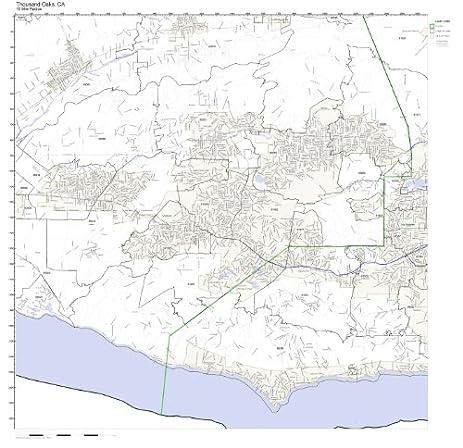 Amazoncom Thousand Oaks CA ZIP Code Map Laminated Home Kitchen - Thousand oaks map