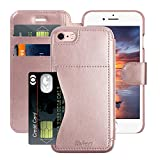 iPhone 8 Wallet Case for Women and Girls, iPhone 8 Case Flip, Leather Folding Case Cover for iPhone 7 Smartphone Compatible Apple iPhone 7 and iPhone 8 [ Rose Gold ]
