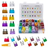 485pcs Assorted Medium & Standard Auto Car Truck Blade Fuses Assortment - 2A 3A 5A 7.5A 10A 15A 20A 25A 30A 35A 40A-ATC/APR/ATO+ATM Boat SUV Automotive Replacement Fuses (485 pcs)