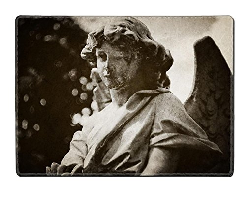 MSD Natural Rubber Placemat IMAGE 21524828 Angel tombstone vintage textured (Angel Tombstone)