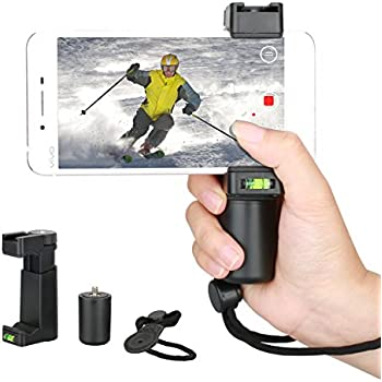 Smartphone Video Rig,FOTOWELT Universal Filmmaker Grip Phone Quick Release Tripod Mount Adapter for Mobile Photographers Video Action Handheld Grip Video Accessories